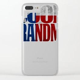 Grandma Design and Texas Design With Texan Grandma Texas Flag shirt Clear iPhone Case