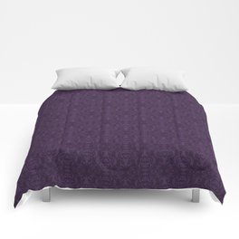 Purple Stag Damask Comforters