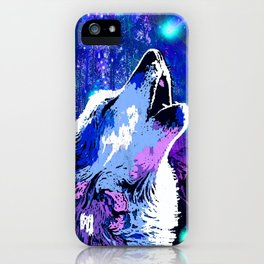 WOLF MOON AND SHOOTING STARS iPhone Case