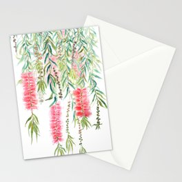 bottle brush tree flower Stationery Cards