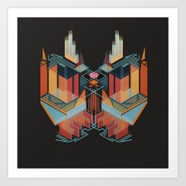 Chapel of the Goddess Orangutan Art Print