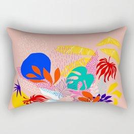 Keep Growing - Tropical plant on peach Rectangular Pillow