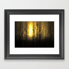 Train View Framed Art Print