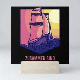 SAILING TEAM SHIP SAILING CREW Gift Sailor Sailing Mini Art Print