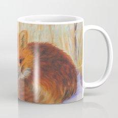 Red fox small nap   Renard roux petite sieste Mug