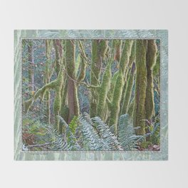 YOUNG RAINFOREST MAPLES Throw Blanket