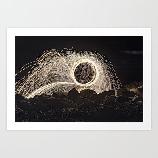 Firespinner #2 Art Print