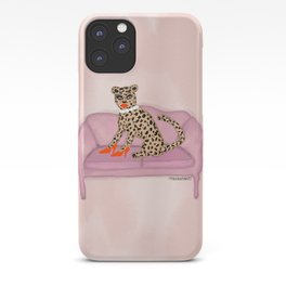 Cheetah On The Couch iPhone Case