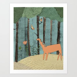 The Magical forest Art Print