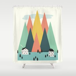 The High Mountains Shower Curtain