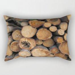 New Sawn Logs Rectangular Pillow