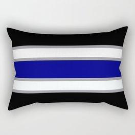 Team Colors 2....blue double gray white..stripes Rectangular Pillow