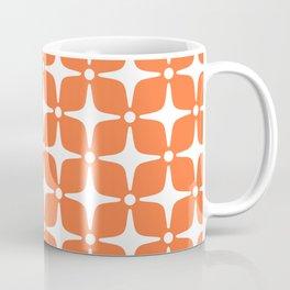 Mid Century Modern Star Pattern Orange 2 Coffee Mug