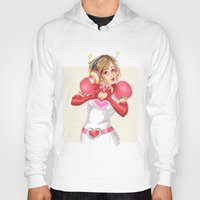 valentines Hoodies featuring Happy Valentines! by Elisa FS