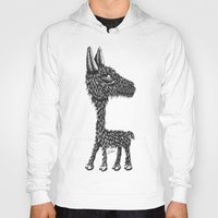 llama Hoodies featuring Llama by Jamie Killen