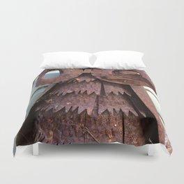 Rusty metal owl Duvet Cover