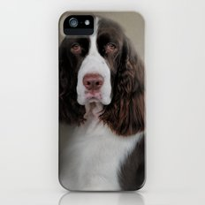 Waiting Patiently - English Springer Spaniel iPhone SE Slim Case