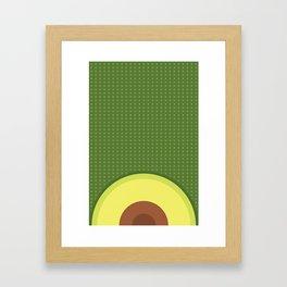 Fresh Avocado Aguacate & Palta Framed Art Print