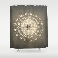 chandelier Shower Curtains featuring Chandelier by vonschnitzenberg