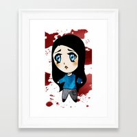 abigail larson Framed Art Prints featuring Abigail by Lunette