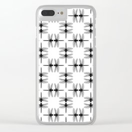 Dragon Fly Pattern Clear iPhone Case