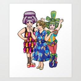 We Three Queens Art Print