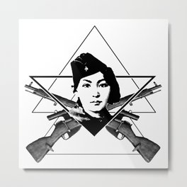 The Sniper (triangle) Metal Print