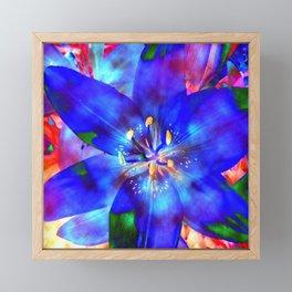 Flashy Flower Framed Mini Art Print