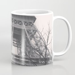 Eiffel tower, Paris, black & white photo, b&w fine art, tour, city, landscape photography, France Coffee Mug