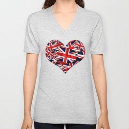 Union Jack British England UK Flag Unisex V-Neck