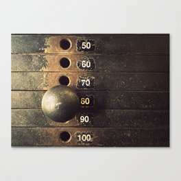 Eighty Weight Stack Texture Canvas Print