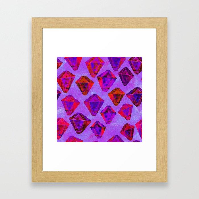 Fairy gems Framed Art Print