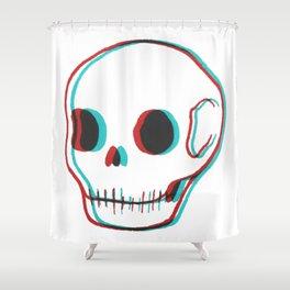 3DSkull Shower Curtain