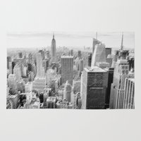 manhattan Area & Throw Rugs featuring Manhattan by Sébastien BOUVIER