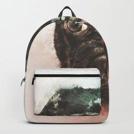 Pug Digital Watercolor Painting Backpack