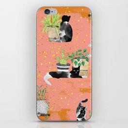 Cats & Plants #society6artprint ##cats #decor iPhone Skin