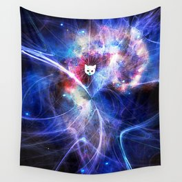 Abstract 3rd Eye Kitten Wall Tapestry