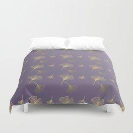 Ginkgo Purple Gold Duvet Cover