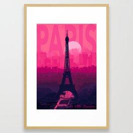 PARIS Le Ville lemiere - Cityscape Framed Art Print