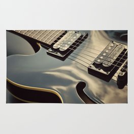 Black Guitar. Rug