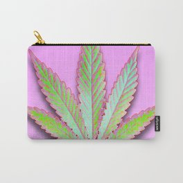 Leaf on Pink Carry-All Pouch