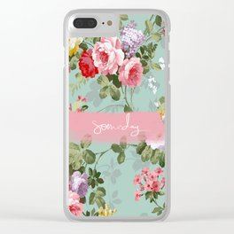 someday spring flowers Clear iPhone Case