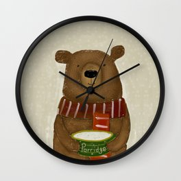 breakfast for bears Wall Clock