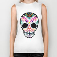 mexican Biker Tanks featuring Mexican Skull by Blank & Vøid