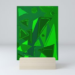 Cages at the Border Green #Abstract #Geometric #PoliticalArt Mini Art Print