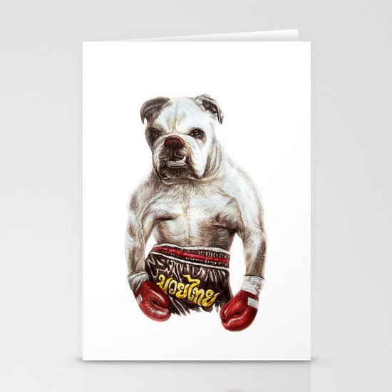 killer dog Stationery Cards