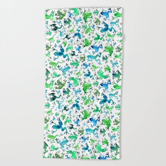 Tree Frogs Beach Towel