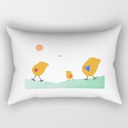 Sunny Family Walking with Girl Rectangular Pillow