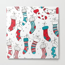 Christmas socks Metal Print