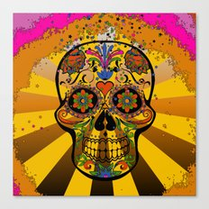psychedelic Pop Skull 317A Canvas Print